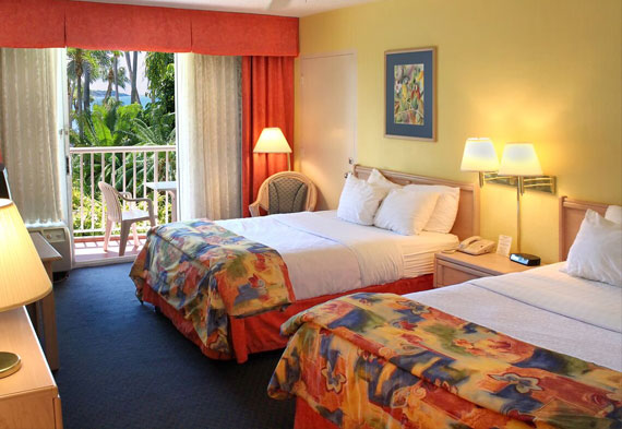 Magnuson Hotel Marina Cove, St. Petersburg Two Double Beds Courtyard Pet Friendly
